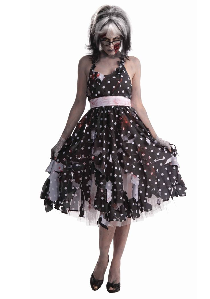 Zombie Housewife Costume (creepy 50s housewife idea for me)