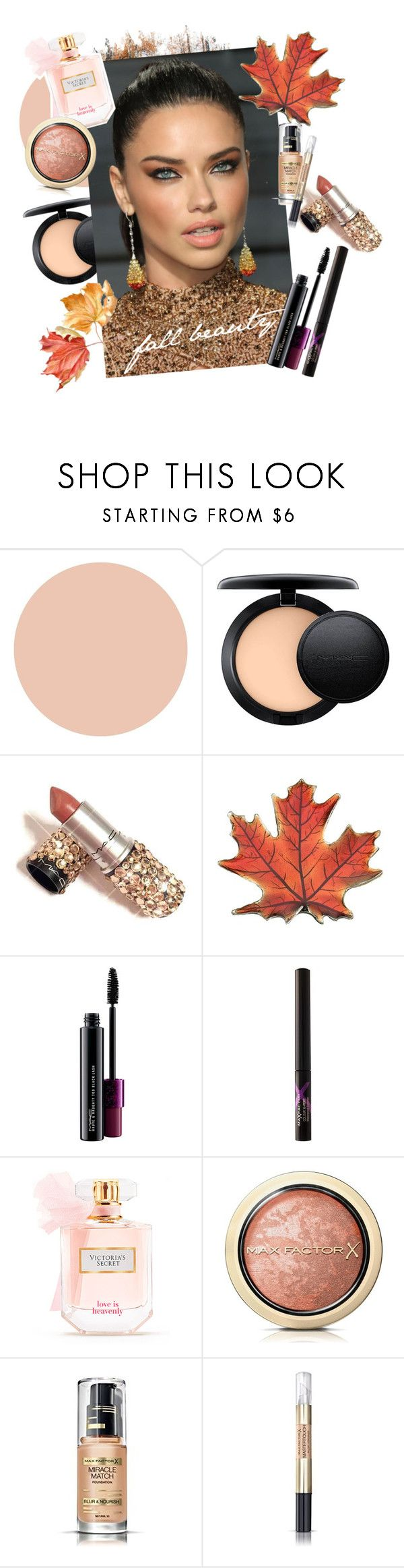 """""""Fall beauty!"""" by ruchirich on Polyvore featuring beauty, Max Factor, MAC Cosmetics, Victoria's Secret and AdrianaLima"""