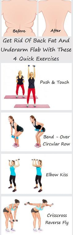 5 Moves for Back Fat + Underarm Flab #strong #fitness