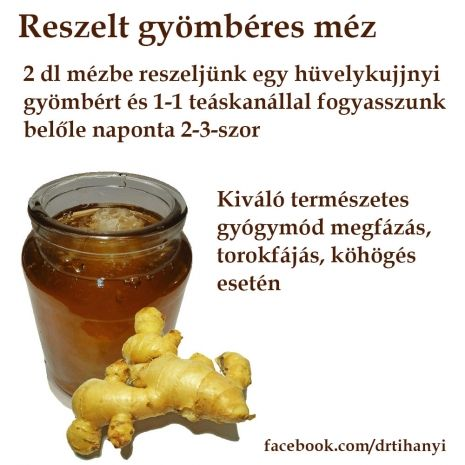 Reszelt gyömbéres méz