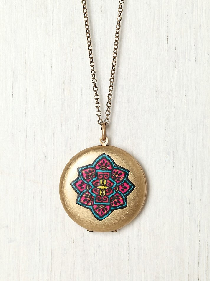 Painted Locket at Free People Clothing Boutique