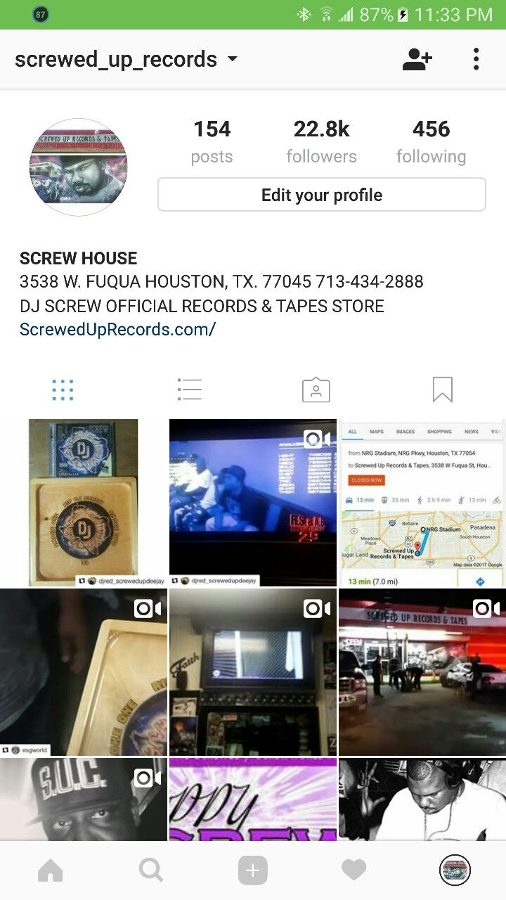 Screwed Up Records and Tapes Official Instagram Page @Screwed_Up_Records