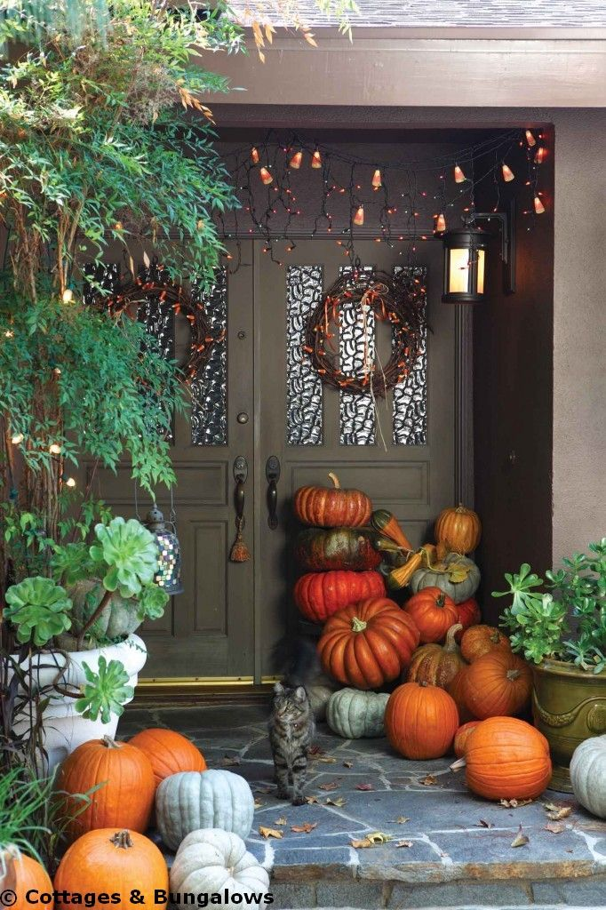 cottage, kitchens, design, Fall, Halloween, decor: Holiday, Cottages Bungalows, Fall Ideas, Pumpkin, Cottages And Bungalows, Halloween Cottages, Cottage Kitchens