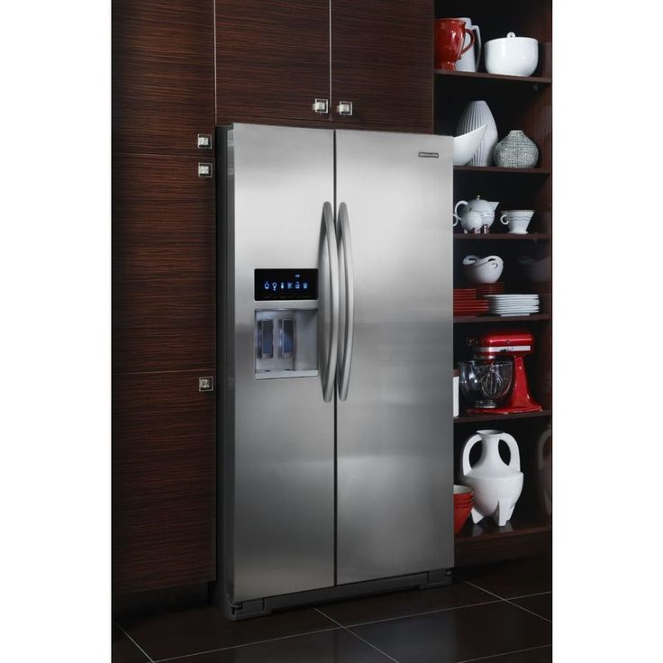 Shop kitchenaid architect ii 25 6 cu ft side by side refrigerator with single ice maker - Kitchenaid architect counter depth refrigerator ...