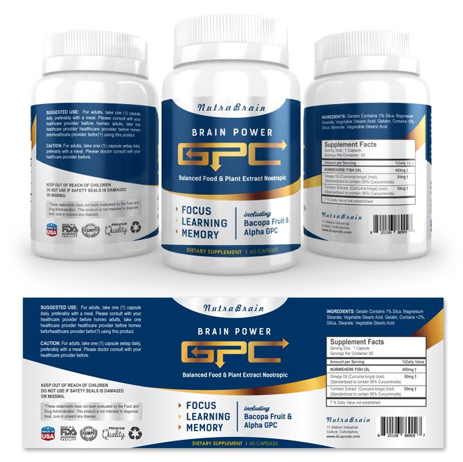 Brain Alpha GPC Supplement Label Template    wwwdlayouts - labeltemplate