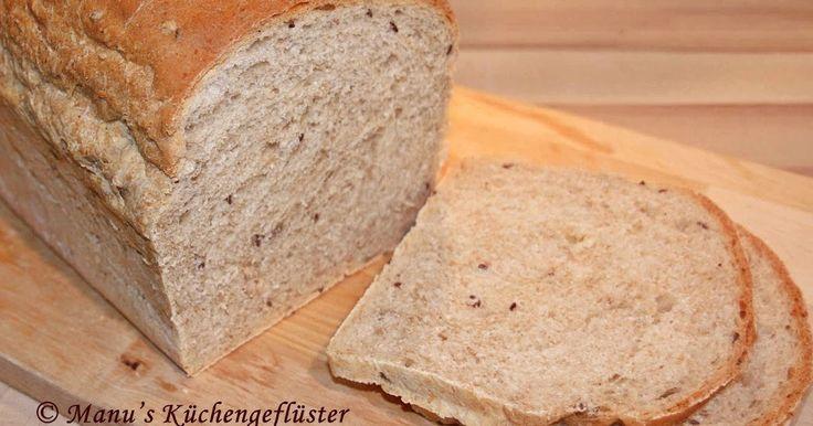 Vollkorn-Butter-Toast mit 4-Saat-Mischung