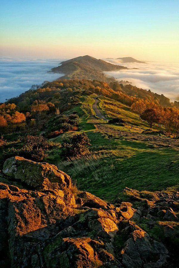 The Malvern Hills ༺✿༺ basking in sunlight.