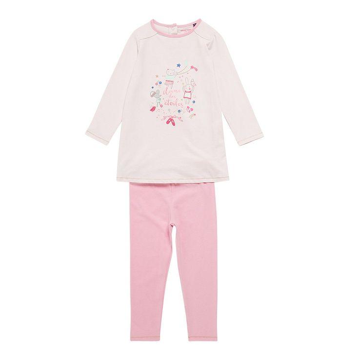 Sergent Major vous propose cette chemise de nuit fille rose pour les 2 à 11 ans du theme Nuit1 h16 de la collection Hiver
