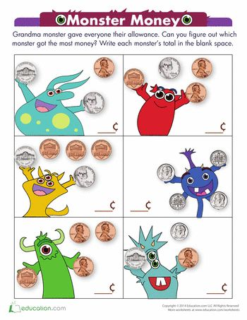 23 best coin worksheets images on Pinterest | Counting money ...