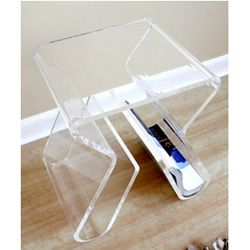 @Overstock.com - Enhance your home decor with this simply shaped and functional stool   End table features a beautiful integrated footrest  Piece of furniture also makes a great side tablehttp://www.overstock.com/Home-Garden/Alec-Acrylic-Stool-End-Table/2929529/product.html?CID=214117 $106.28