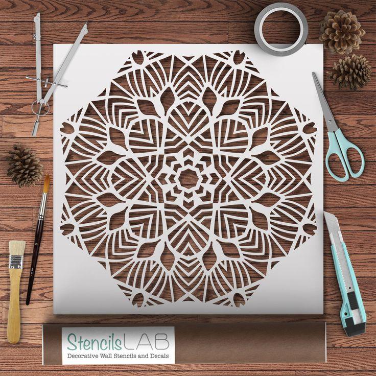 Decorative Mandala Style Stencil