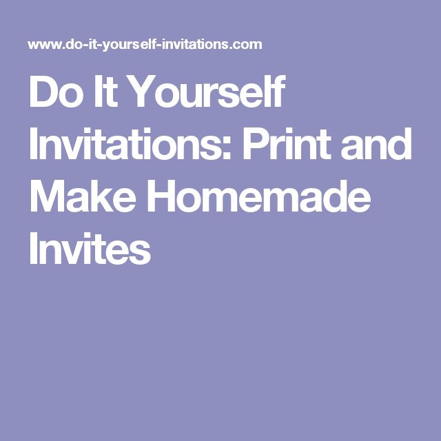 Best 25+ Homemade Invitations Ideas On Pinterest