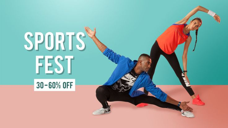 Get sporty, get fit!  Get #discounts on #sports #fashion!