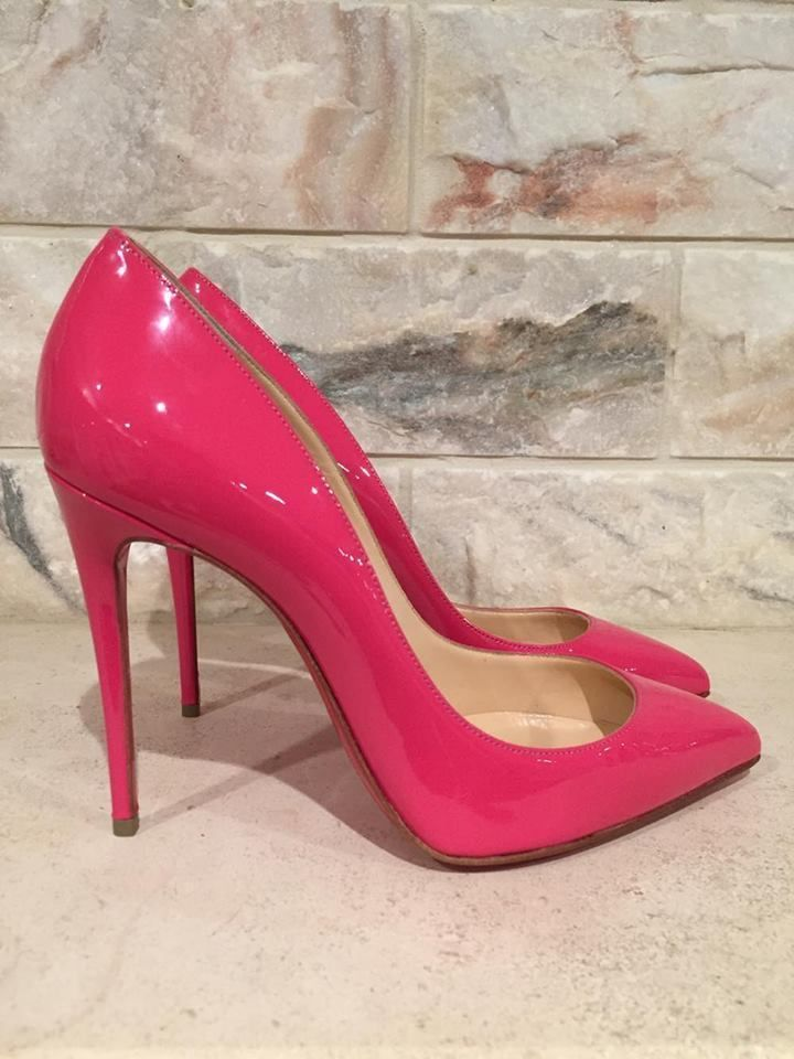 044b097a5e1 NIB Christian Louboutin Pigalle Follies 100 Patent Leather BonBon ...