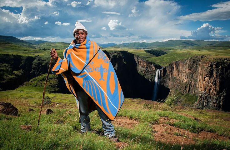 Basotho blankets, a traditional cover-up in Lesotho, are being refashioned for modern tastes. Above, the...