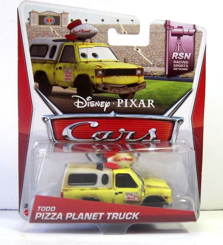disney pixar cars todd pizza planet pick up truck 155 die cast toy yellow new mattel available from ebay pinterest disney cars and trucks - Disney Cars Toys Truck
