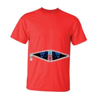 Tshirt Zipper Skeleton Red