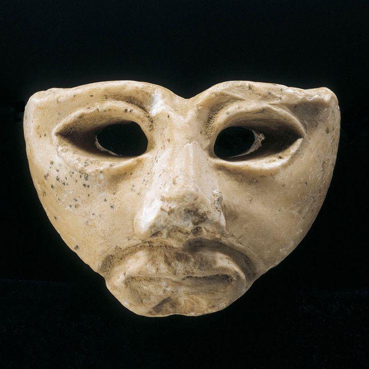 Sumerian Gypsum Mask ,Midlle of the 3rd Millennium B.C.