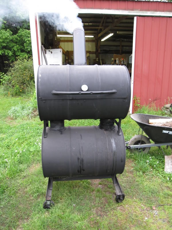 Double barrel smoker smoking meat forums bar b q and for Smoking fish in a smoker