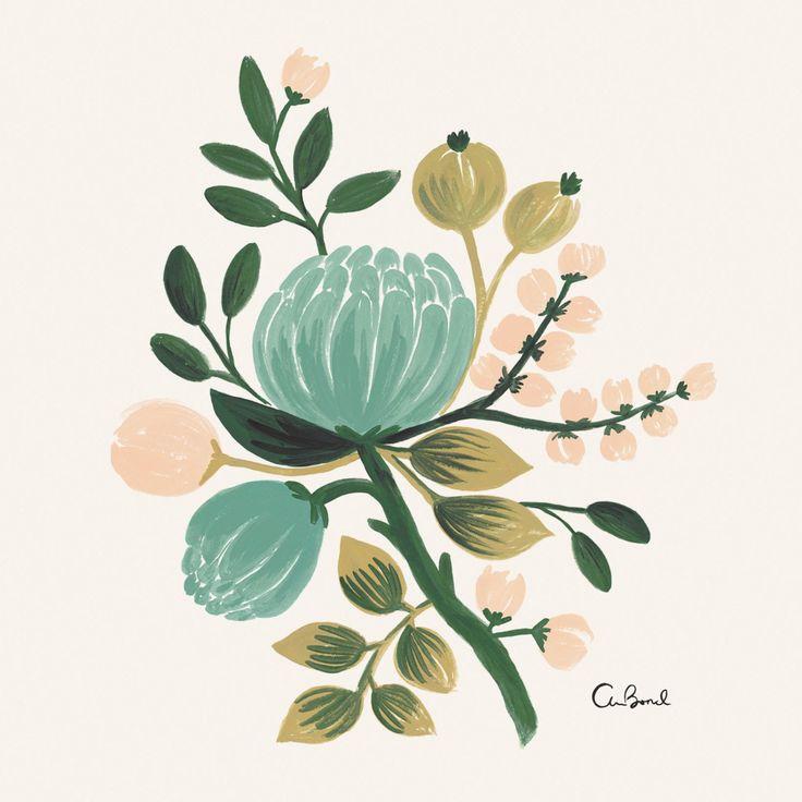 Blue Botanical 8x10 Art Print
