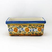 cassetta ceramica caltagirone floreale blu