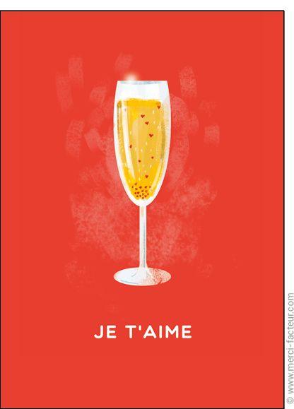 http://www.merci-facteur.com/carte-coeur.html #carte #StValentin #amour #love #Valentinsday #iloveyou #coeur #SanValentin #amor #Jetaime #Tequiero Carte Coeurs de champagne pour envoyer par La Poste, sur Merci-Facteur !
