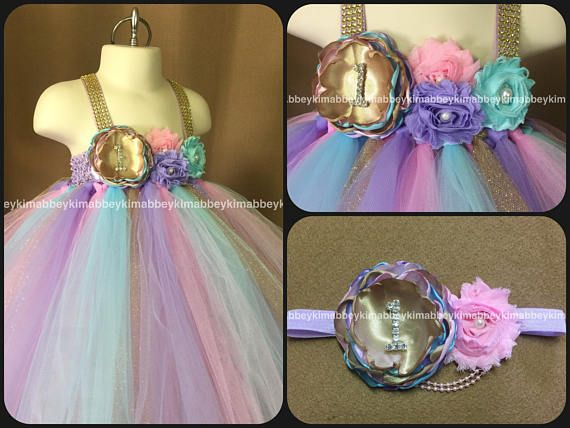 Beautiful baby girl tutu dress perfect for first birthday in