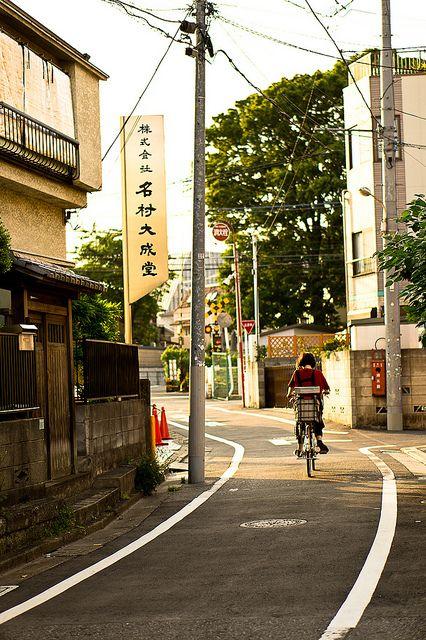 雑司が谷の夕べ Evening in Zōshigaya (雑司が谷) Toshima, Tokyo.