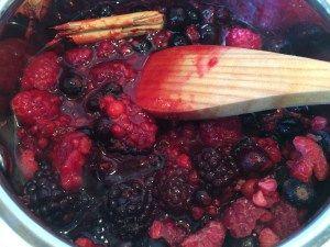 Frozen mix berries sauce