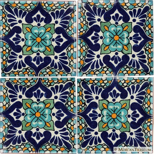 Mexican Tile - Polanco 2 Mexican Tile | Folk Art I Love ...