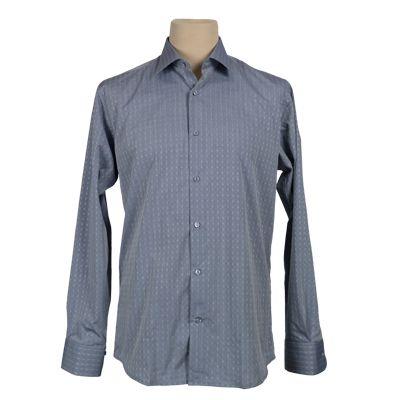Camicia vestibilita' regolare fantasia - Celeste - Invernale GIODI'S. € 37,00. #hallofbrands #hob #camicia #shirt