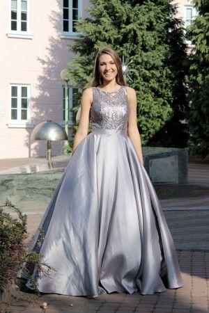 Šedé plesové šaty - dlouhé šaty - maturitní šaty www.svatebninella ... 5c35999e3c