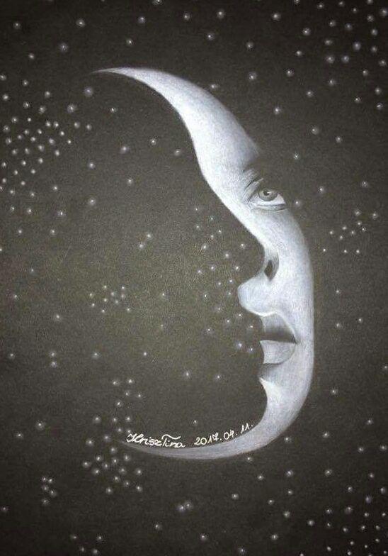 Feketén fehérrel - Hegedűs Krisztina rajza