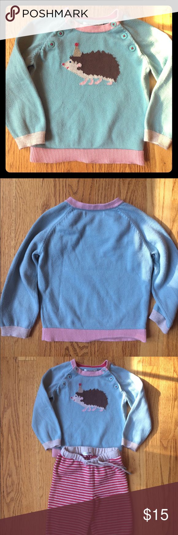 PRICE DROP!! 🎉Baby Boden hedgehog  sweater Gently used baby boden sweater. Only one owner. Some washer wear but no stains, rips, or holes. Looks adorable with the striped Boden pants also in my closet! ❤️ Mini Boden Shirts & Tops Sweaters