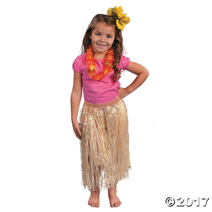 This artificial grass skirt goes perfectly with our authentic coconut bras! Wear it for the perfect luau or beach party outfit! If your child has a Hawaiian ...