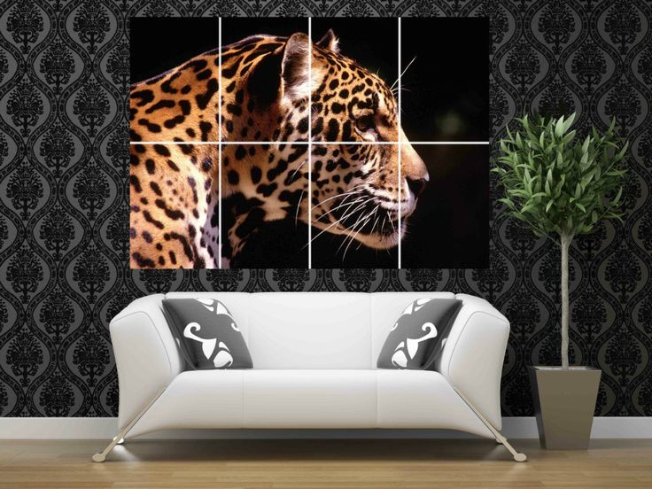 Forest Jungle Speed Leopard Woman 46 X 32 Inches 116 X 81 Cm Wall Giant  Large Decals Photo Art Huge Poster Picture Print