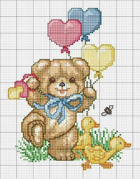 Favoloso 1384 best Teddy Bear cross stitch images on Pinterest | Cross  BV73