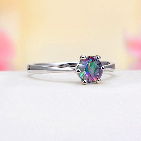 Sterling Silver Rainbow Mystic Topaz Ring.. i love the different colors... kelsey