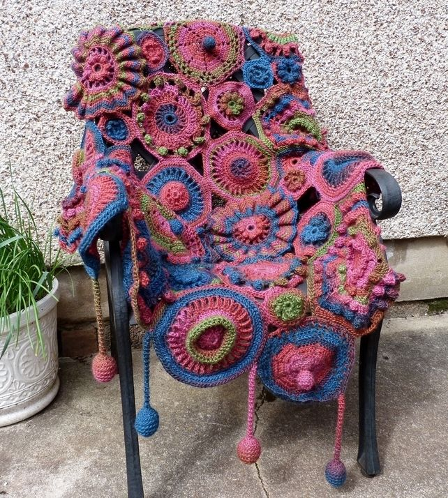 Crochet Sofa Throw