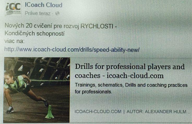 Nove cvicenia na rozvoj RYCHLOSTI.  Viac na www.icoach-cloud.com