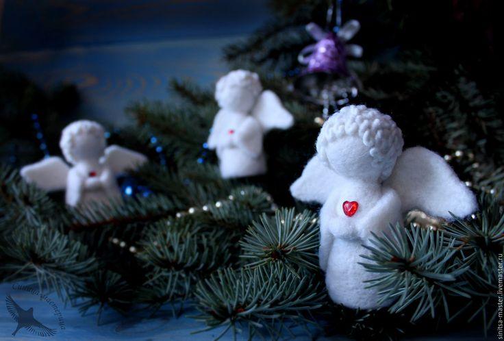 Купить Снежные ангелы (рождественский ангел) - рождественское украшение, рождественский подарок, рождественский ангел, рождество