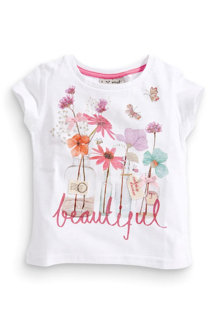 Buy White Flower Top (3mths-6yrs) from the Next UK online shop