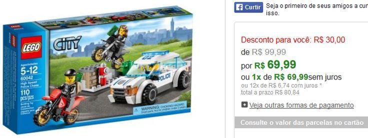 LEGO City - Perseguição de Polícia em Alta Velocidade << R$ 6999 >>