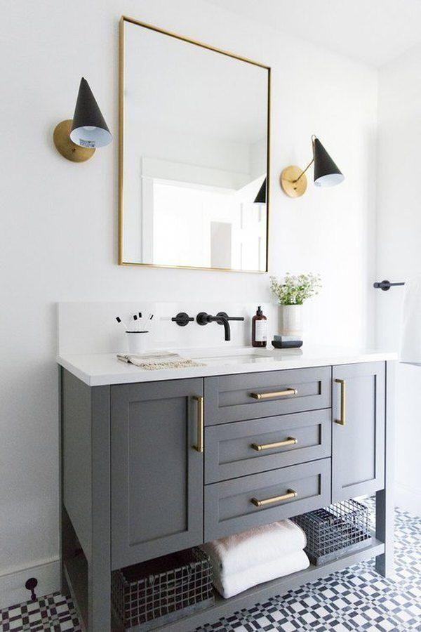 Newest Absolutely Free Grey Bathroom Vanity Strategies Selecting