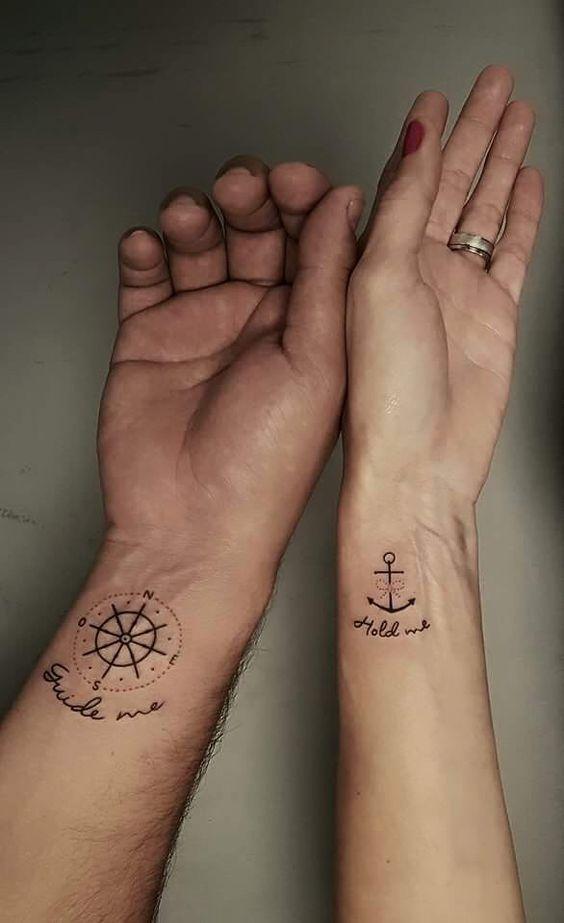 31 Süße Tattoo-Ideen für Paare, die sich verbinden möchten – Stil & Designs – Seite 6 #ad   – Tattoo's
