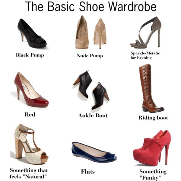 The Basic Shoe Wardrobe  If every woman had this shoe wardrobe, she would have a shoe for every outfit. Of course, there is no need to stop here. After the basics, its all fun!