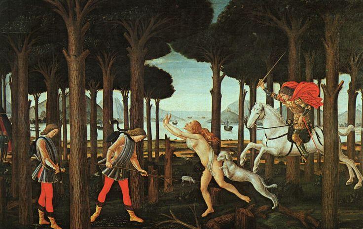 Sandro Botticelli, The Story of Nastagio degli Onesti, 1483