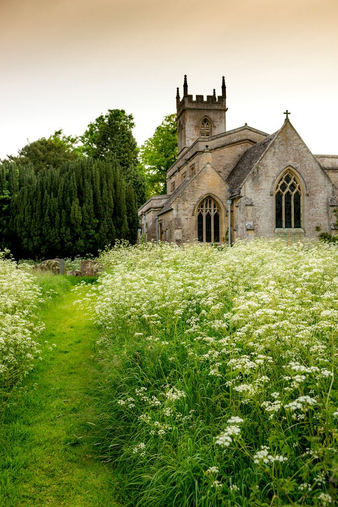 Grassy Path to St. Nicholas' Parish Church in Chadlington - Oxfordshire, England ~ Photo by howard-sherwood ....