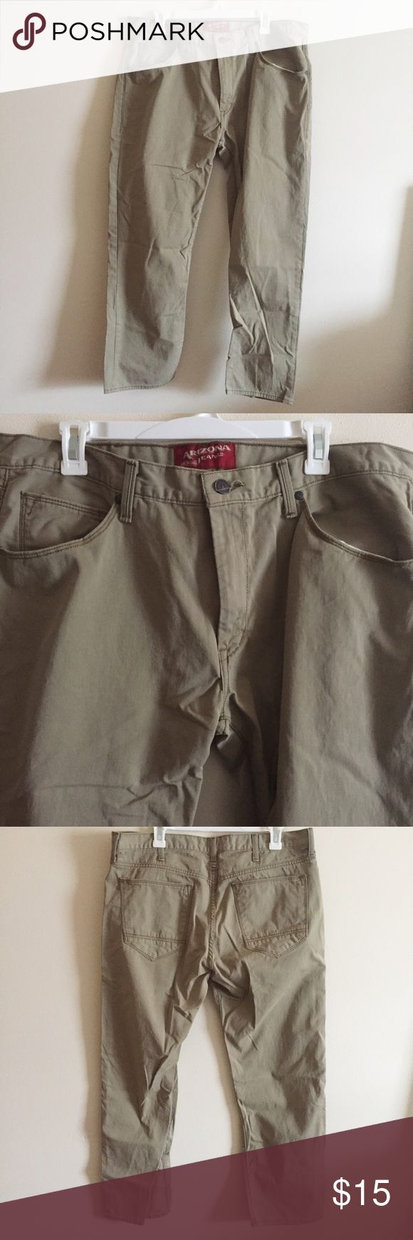 Men's Khaki Pants Men's Khaki Pants from Kohls! Only worn a few times! Size 38x30   👍🏼 Thanks for checking out my closet!  ❓Ask any questions!  ✅ Make me an offer!  🚫 No trades! Arizona Jean Company Pants Chinos & Khakis