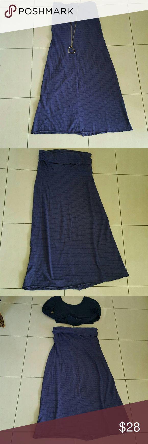 Roxy maxi skirt tube dress Mid length tube dress converts to maxi skirt Roxy Dresses Maxi